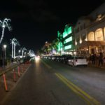 Walking down Ocean Drive