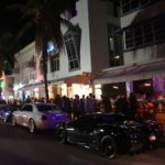 Black Ferrari on Ocean Drive