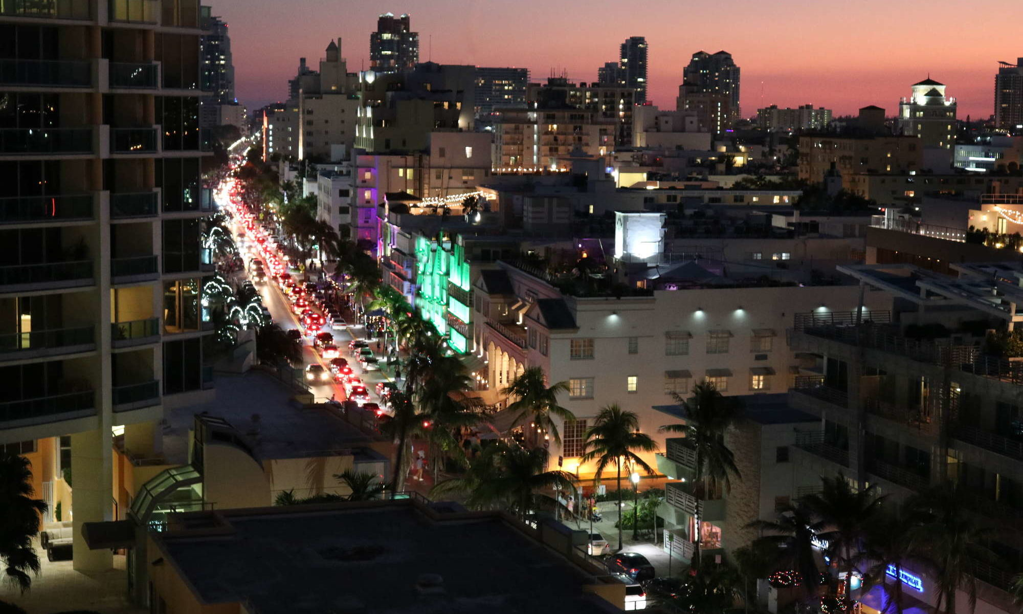 view of ocean drive, south beach, miami beach